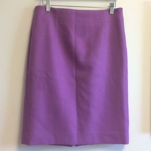 J.Crew purple wool pencil skirt size 8